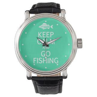 Keep Calm & Go Fishing custom watches