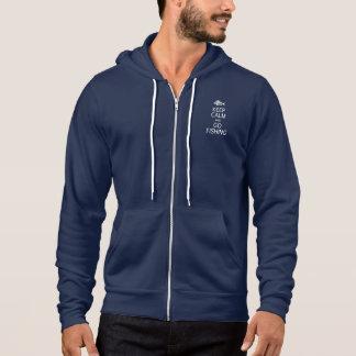 Keep Calm & Go Fishing hoodie - choose color