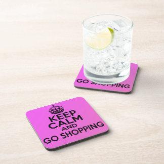 Keep Calm & Go Shopping UNIQUE coaster