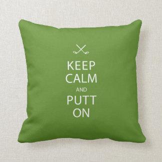 Keep Calm - Golf Gift Cushion