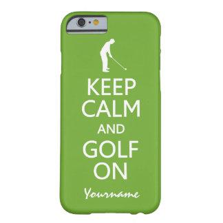 Keep Calm & Golf On custom color cases