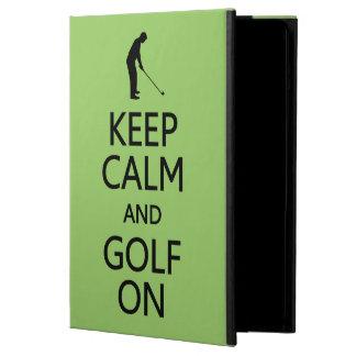 Keep Calm & Golf On custom color cases iPad Air Cover