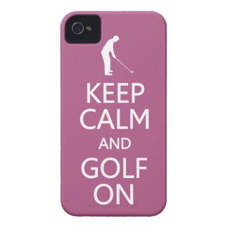 Keep Calm & Golf On custom color iPhone case