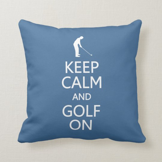 Keep Calm & Golf On custom color throw
