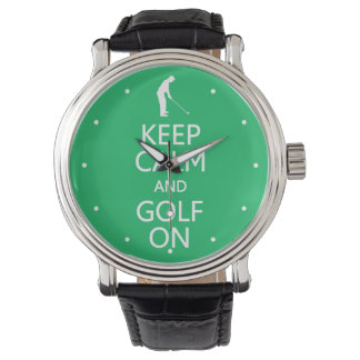 Keep Calm & Golf On custom watches