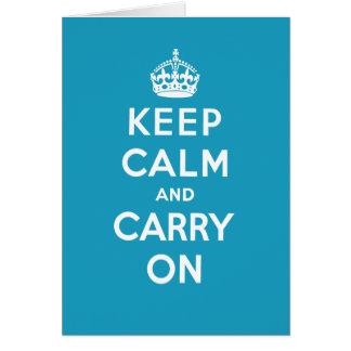 Keep Calm Greeting Card