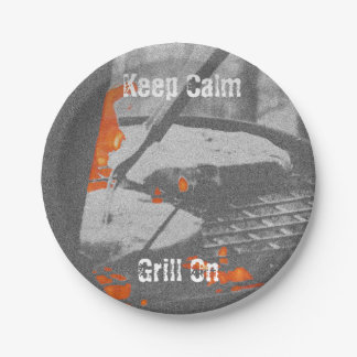 Keep Calm Grill On - Paper Plates
