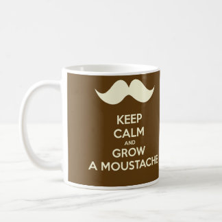 Keep calm & Grow a Moustache Coffee Mug