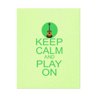 Keep Calm Guitar Parody Canvas Print