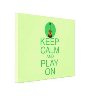 Keep Calm Guitar Parody Gallery Wrapped Canvas