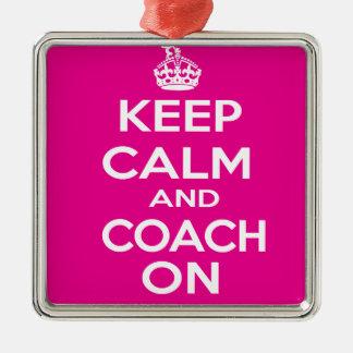 Keep Calm Gymnastics Coach Gift Christmas Ornament