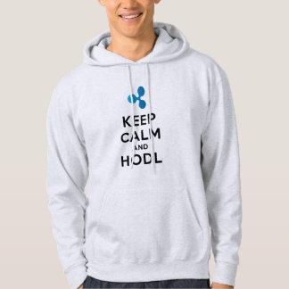 Keep Calm & HODL Ripple XRP Hooded Sweatshirt