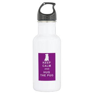 Keep Calm Hug the Pug gym birthday 532 Ml Water Bottle