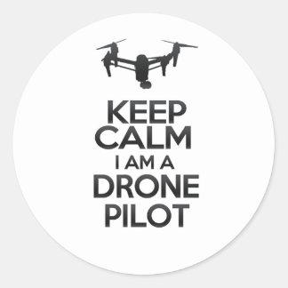 Keep Calm I a.m. Drone Pilot Classic Round Sticker