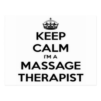 Keep Calm I Am A Massage Therapist Postcard