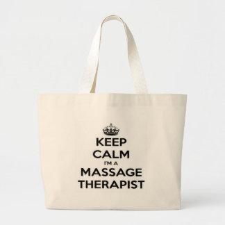 Keep Calm I Am A Massage Therapist Jumbo Tote Bag