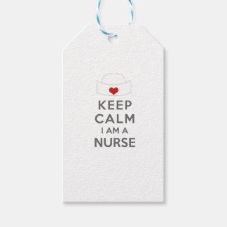 Keep Calm I am a Nurse Gift Tags