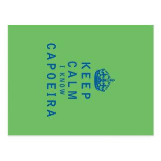 Keep Calm I Know Capoeira Postcard