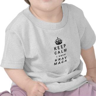 Keep Calm I Know Krav Maga Shirts