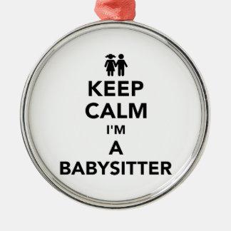 Keep calm I'm a babysitter Christmas Ornament