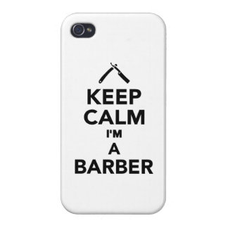Keep calm I m a Barber iPhone 4/4S Cases