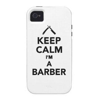 Keep calm I m a Barber Vibe iPhone 4 Covers