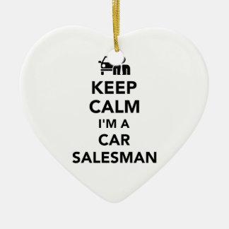 Keep calm I'm a car salesman Christmas Ornament