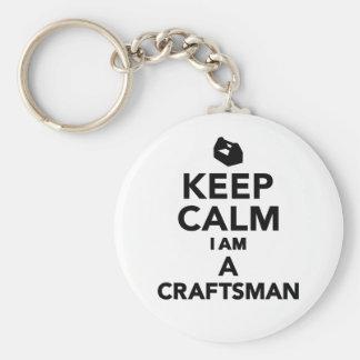 Keep calm I m a Craftsman Keychains