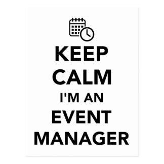 Keep calm I'm a event manager Postcard