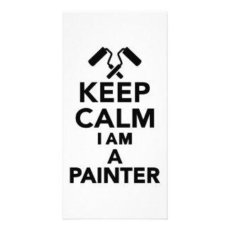 Keep calm I m a Painter Photo Cards