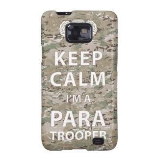 Keep Calm - I m a Paratrooper Samsung Galaxy S2 Cases