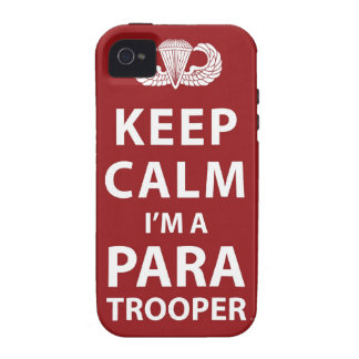 Keep Calm I m A Paratrooper iPhone 4/4S Cover