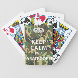 Keep Calm - I m a Paratrooper Bicycle Poker Cards