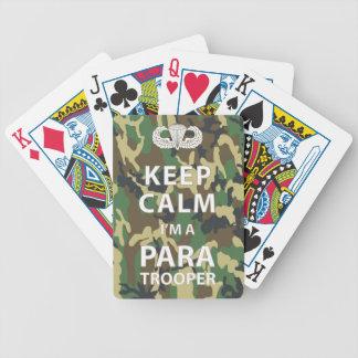 Keep Calm I m a Paratrooper Poker Cards