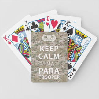 Keep Calm - I m a Paratrooper Playing Cards