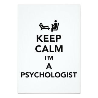 Keep calm I'm a psychologist 9 Cm X 13 Cm Invitation Card