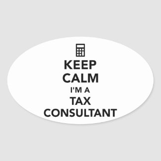 Keep calm I'm a tax consultant Oval Sticker