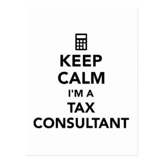 Keep calm I'm a tax consultant Postcard