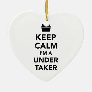 Keep calm I'm a undertaker Ceramic Heart Decoration