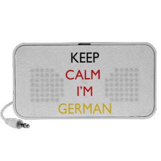 Keep Calm I m German Mini Speakers