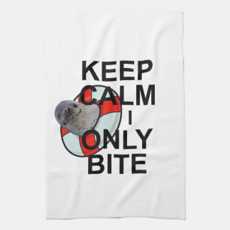 Keep Calm I Only Bite Kitchen Towel