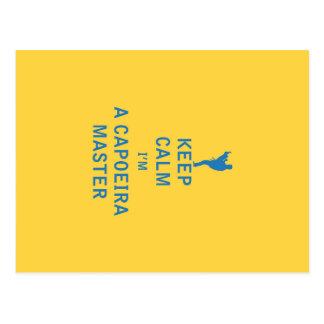 Keep Calm I'm a Capoeira Master Postcard
