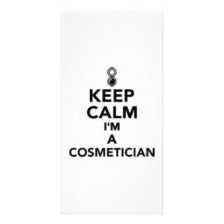 Keep calm I'm a Cosmetician Photo Card
