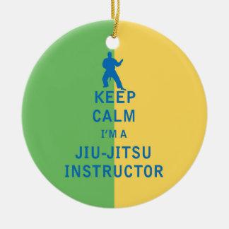 Keep Calm I'm a Jiu-Jitsu Instructor Christmas Ornament