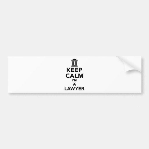 Keep calm I'm a lawyer Bumper Sticker