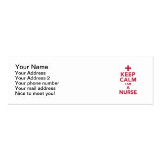Keep calm I'm a nurse Business Card Template
