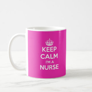 KEEP CALM I'M A NURSE PINK NURSING GIFT COFFEE MUG