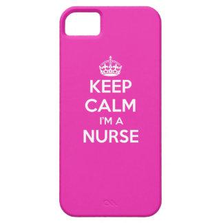KEEP CALM I'M A NURSE PINK NURSING GIFT iPhone 5 CASE