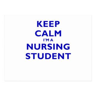 Keep Calm Im a Nursing Student Post Cards