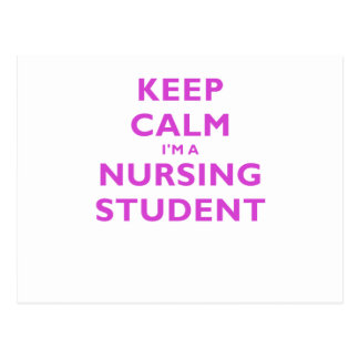 Keep Calm Im a Nursing Student Postcards